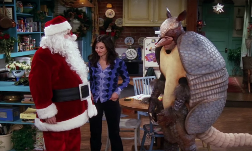 friends is a show that one could pick several wonderful examples from however this episodewhen ross dresses up as a holiday armadillo because there are - Best Christmas Episodes